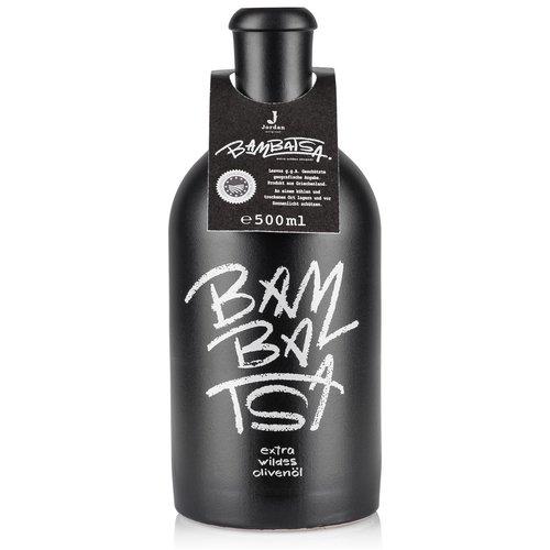 Jordan Olivenöl - Bambatsa extra wildes Olivenöl 500ml Keramikflasche schwarz