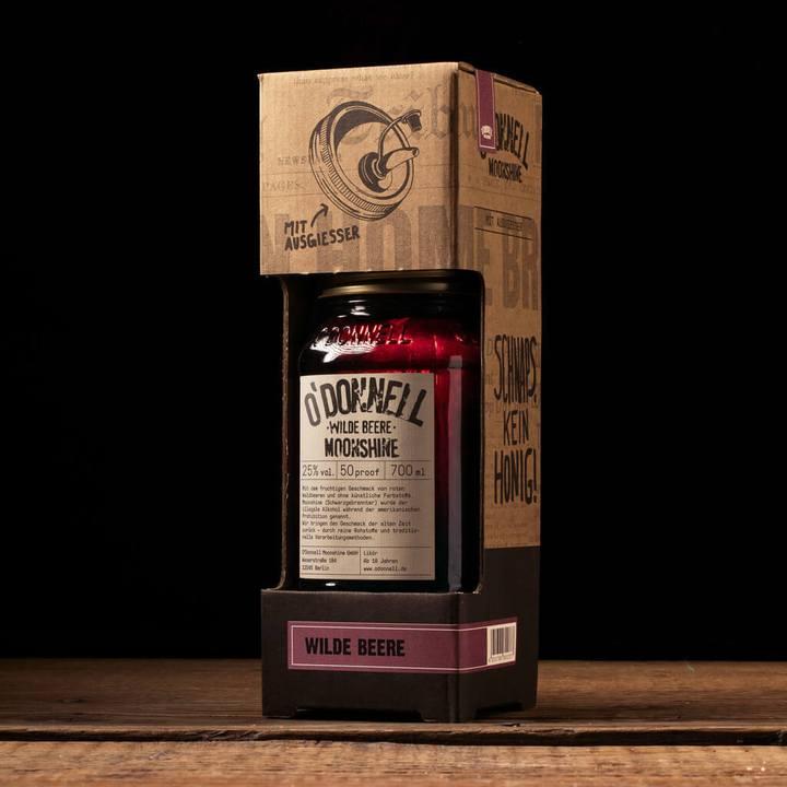 O`Donnell Moonshine Kombiset Wilde Beere mit Ausgiesser 700ml