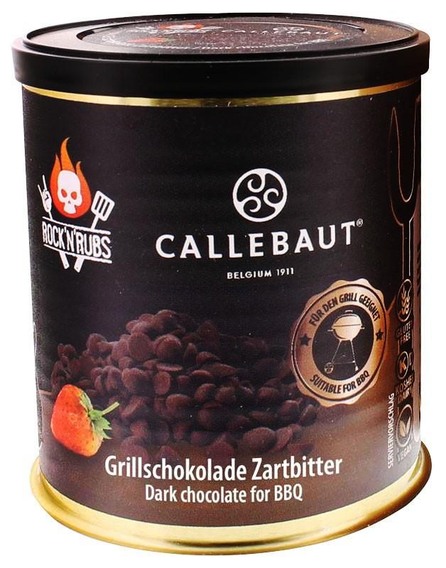 Rock´n Rubs Callebaut Grillschokolade Zartbitter 200g Dose