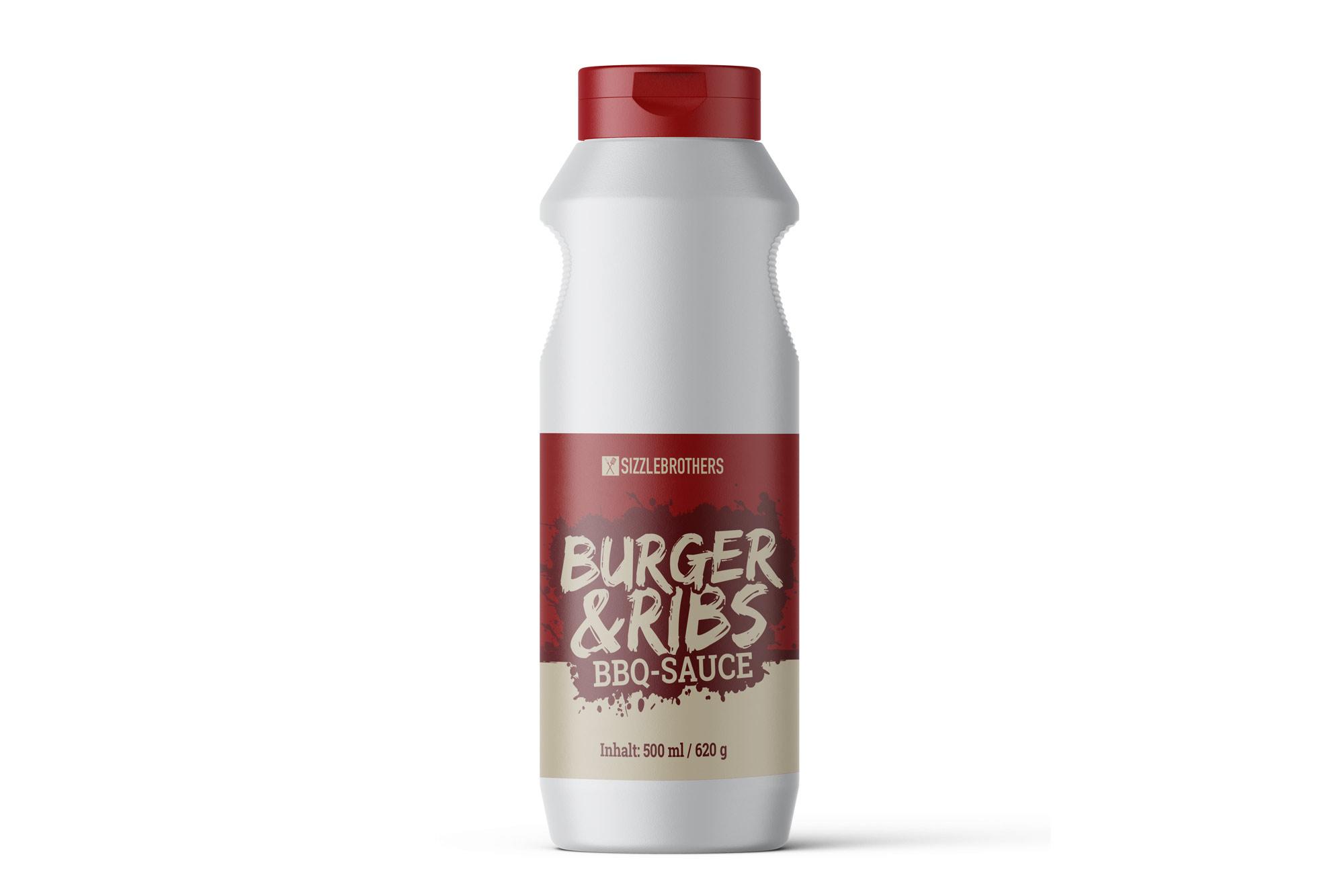 Sizzlebrothers Burger & Ribs BBQ-Sauce 500ml